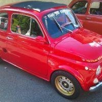 Fiat 500 Red Vintage Car Auto